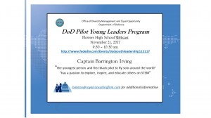 DOD Pilot Young Leaders Project Flyer
